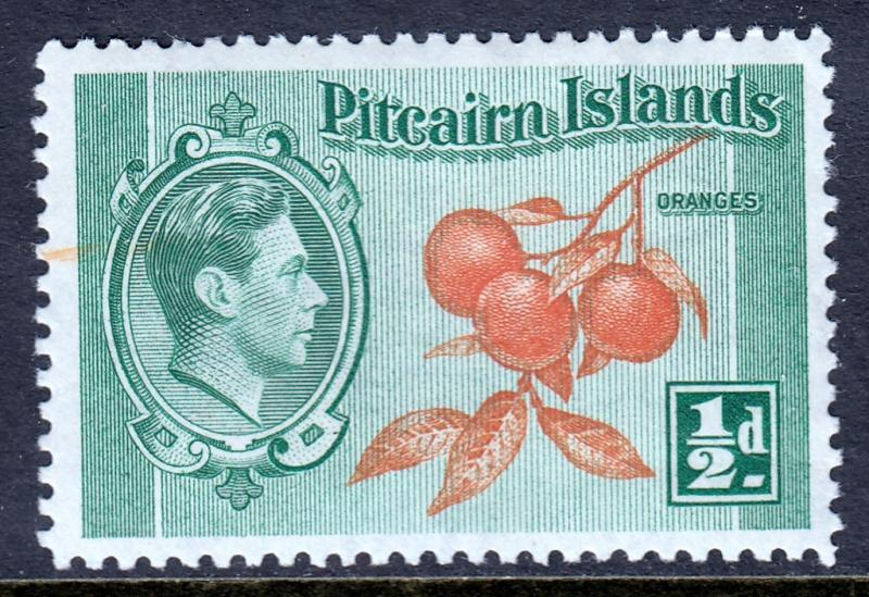 Pitcairn Islands - Scott #1 - MH - Orange streak - SCV $0.50