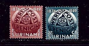 Surinam 238-39 MNH 1949 UPU 75th Anniversary   #2