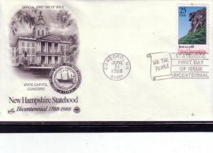 US FDC Sc.# 2344 New Hampshire Statehood L427