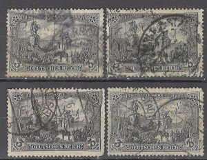 COLLECTION LOT OF #1160 GERMANY  # 94*4 1905 CLEARANCE STUDY