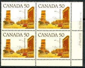 CANADA 1977-82 50c Main Street Prairie Town Plate 3 SE Blk Sc 723A MNH