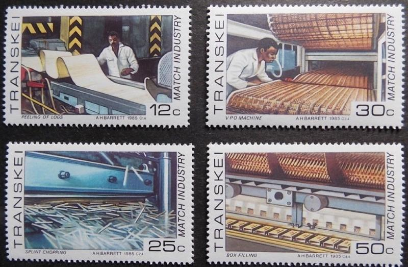 1985 Match Industry MNH Stamps from South Africa (Transkei)