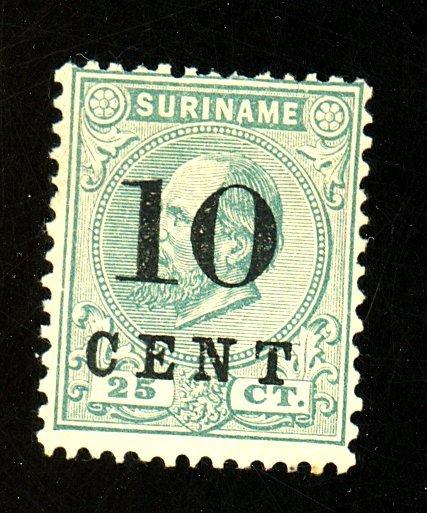 Surinam #34A MINT Ave-Fine No gum HR Cat $575