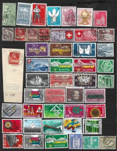 COLLECTION LOT OF # 812 SWITZERLAND 47 STAMPS 1877+ CLEARANCE CV+$30