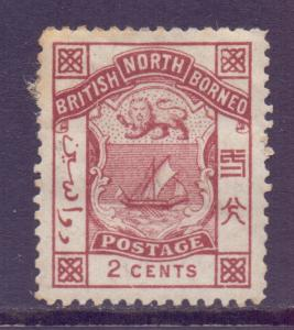 North Borneo Scott 27 - SG25, 1886 Postage 2c MH*