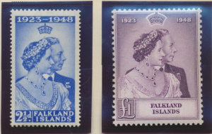 Falkland Islands Stamps Scott #99 To 100, Mint, #99 Hinged, #100 Never Hinged...