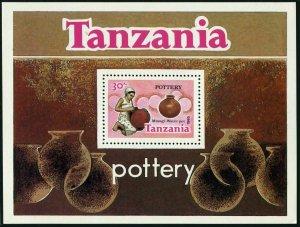 Tanzania 283,MNH.Michel 280 Bl.46. Pottery 1985.