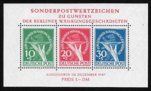 Germany Stamps # 9NB3A XF OG MNH - has very small spot upper right