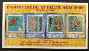 NORFOLK ISLAND SGMS736 2000 EIGHTH FESTIVAL OF PACIFIC ARTS MNH
