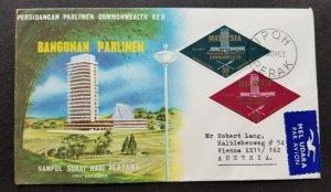 Malaysia 9th Commonwealth Parliamentary 1963 (FDC) *addressed *odd shape