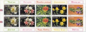 Namibia. 1997. booklet 859-63. Flowers flora. MNH.