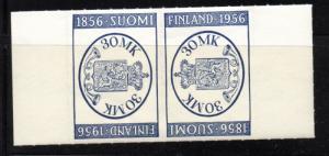 Finland Sc 341a 1956 FINLANDIA tete-beche stamp pair mint