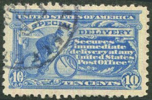 Special Delivery E10 Blue 10¢ 1916 Unwmk P10 Used Fat Margins