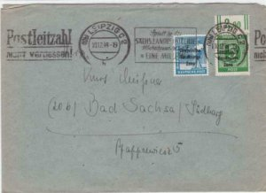 Germany Soviet Zone 1948 Leipzig to Bad Sachsa stamps cover  R20716