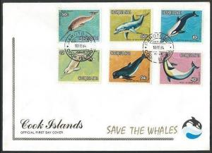 COOK ISLANDS 1984 WHALES set on 2 FDCs.....................................63782