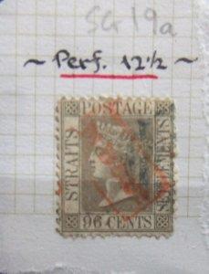 Straits QV 1867 96c grey SG19a CV £200
