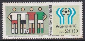 Argentina #1189 single F-VF Mint NH ** Soccer