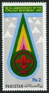 Pakistan 576, MNH. Scouting Year, 1982