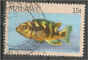 MALAWI 1984 used 15t  Aquarium  Scott 433