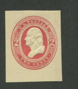 1883 United States Stamped Envelope Stationary #U244 Mint F/VF Cut Square