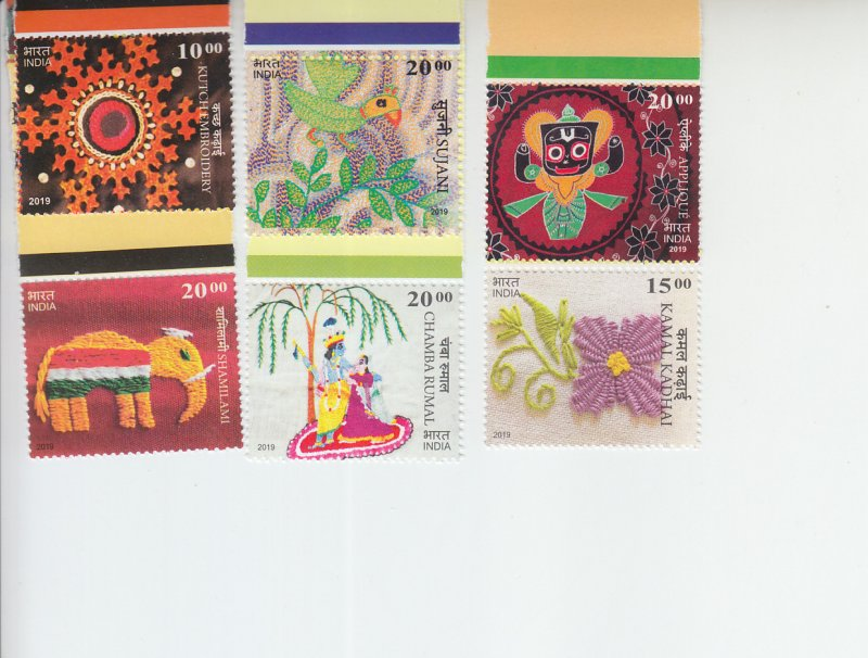 2019 India Embroidery (12) (Scott NA) MNH