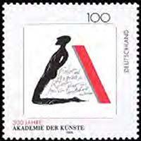 GERMANY 1996 - Scott# 1932 Academy of Arts Set of 1 NH