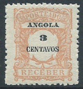 Angola, Sc #J24, 3c MH