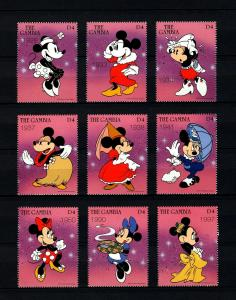 GAMBIA - 1997 - DISNEY - MINNIE MOUSE - THROUGH THE YEARS - 9 X MINT MNH SET!