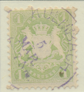 Bavaria (German State) Stamp Scott #23, Used - Free U.S. Shipping, Free World...