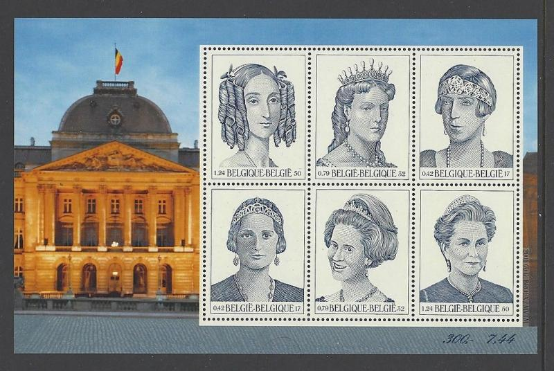 Belgium 2001 Royalty Queen SS VF MNH (1842)