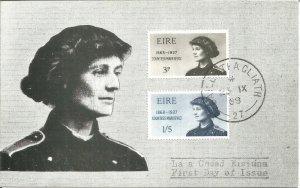 Maximum Card 1968 Commemorate Centenary Of Birth Of Countess Markievicz U3786