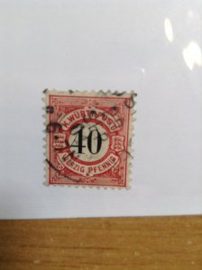 Germany  (Wurttemburg) SC #65  Used