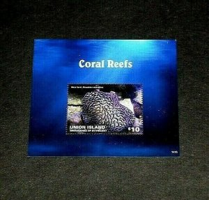 TOPICAL, 2014, MARINE LIFE, UNION ISLANDS, CORAL, SHEET, LOT #141, MNH, LQQK