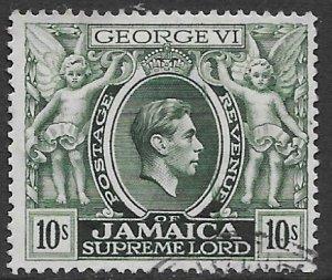 Jamaica   128   1950    10 sh   fvf  used