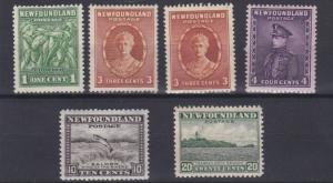 NEWFOUNDLAND 1932  S G 209 - 218   VARIOUS VALUES  TO 20C  MH  CAT £47