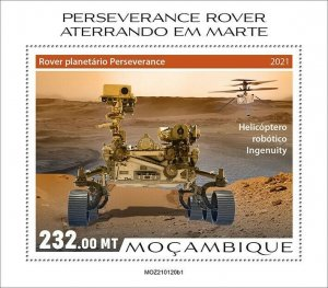 Mozambique 2021 MNH Space Stamps Perserverance Rover Mars Landing 1v S/S I