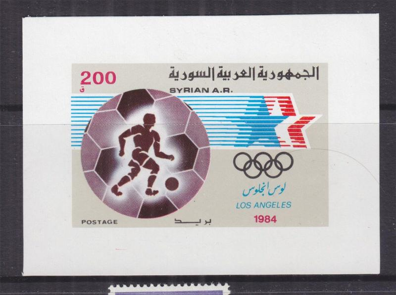 SYRIA, 1984 Olympic Games, Los Angeles Sheet, mnh.