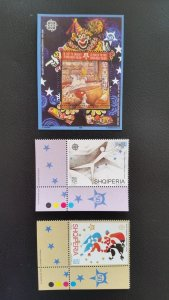 50th anniversary of EUROPA stamps - Albania - complete 1xBl + 1xSet ** MNH