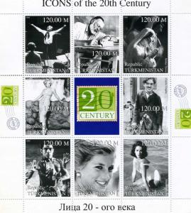 Turkmenistan 1999 Icons 20th Century Sheet Perforated mnh.vf