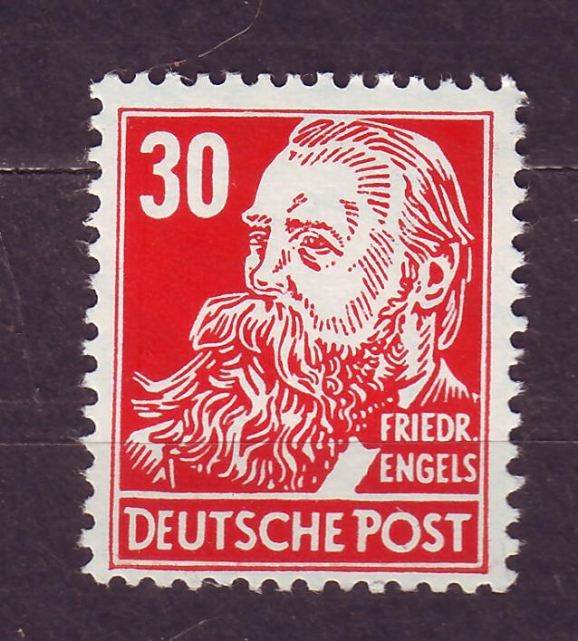 J14670 JLstamps 1953 germany DDR mnh #130 engels wmk 297