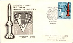 Argentina, Worldwide First Day Cover, Polar, Space