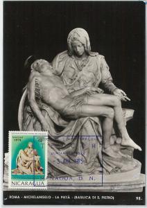 59095  - NICARAGUA - POSTAL HISTORY: MAXIMUM CARD 1975  -  ART Michelangelo