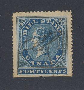 Canada  Revenue Bill Stamps 1st Series #FB13-40c Used SE GV= $75.00