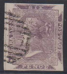 BC SIERRA LEONE 1859-74 QV Sc 1 IMPERF FORGERY USED