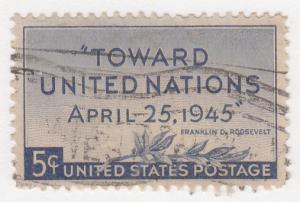 United States, Sc. # 928, Used, Peace Conference, 1945
