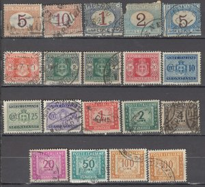 COLLECTION LOT OF #1118 ITALY 19 POSTAGE DUE STAMPS  CLEARANCE CV=$51