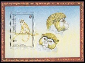1993 Gambia 1549/B186 Fauna - Monkeys 11,00 €