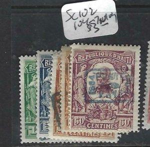 HAITI  (P1506B)  SC 102, 104-7   MOG