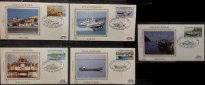 Guernsey 1981 Inter Island Transport Benham BGS5a-e  Coaster Trislander Launch
