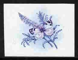 Lesotho 1984 Butterflies Meadow White 60s imperf proof in...